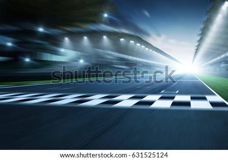 Night circuit motion blur road #631525124