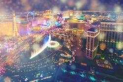Night City Las Vegas panoramic background