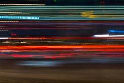 night city light trails red, green, blue