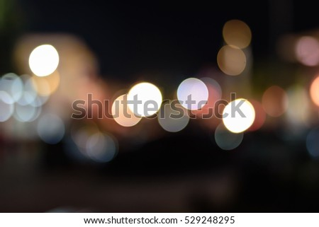 Night city street lights background and street lights blur bokeh,Colorful circles of light abstract background. #529248295