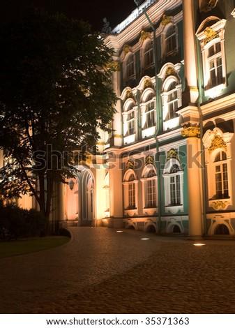 Night city. Summer night in Saint-Petersburg.