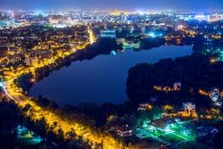 Night cityscape , Bucharest, Romania, cityscape, high view