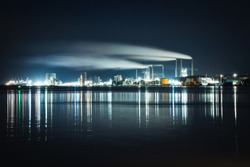 Night cityscapes of Aalborg, Denmark