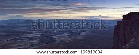 Night falls over Canyonlands National Park, USA