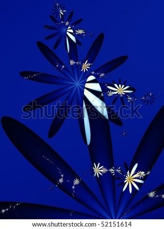 night flower dark abstract