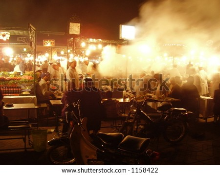 Night Food stalls – Marrakesh