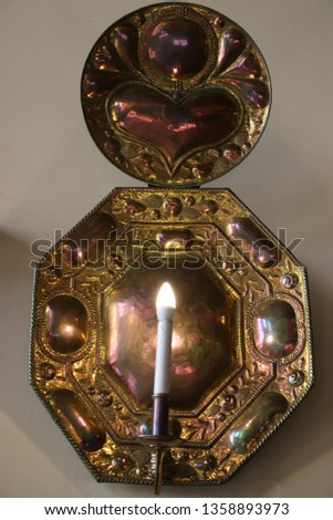 Night light bronze candle wall sconces. #1358893973