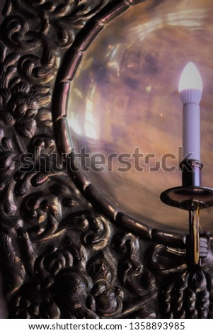 Night light bronze candle wall sconces. #1358893985