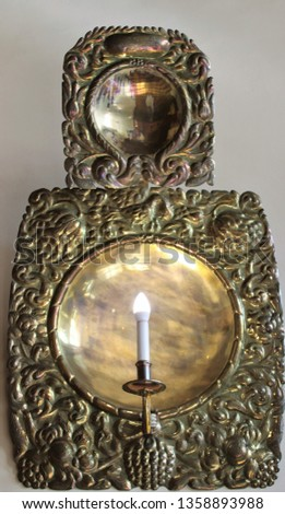 Night light bronze candle wall sconces. #1358893988