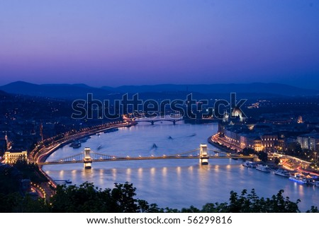 Night lights in Budapest-Hungary