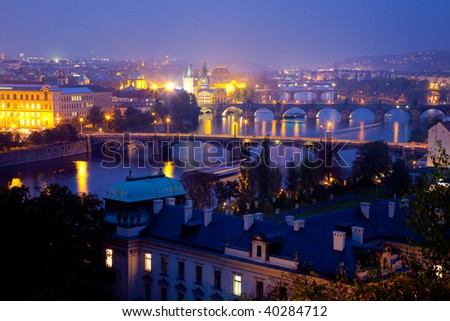Night lights in Prague