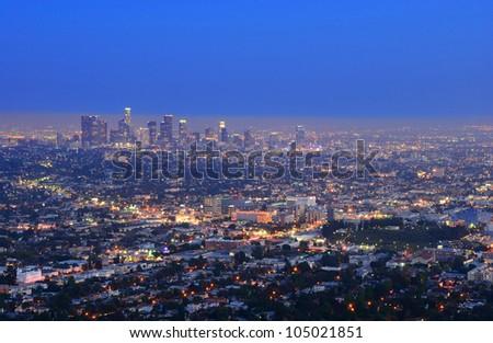 Night Los Angeles. California. The United States. - stock photo