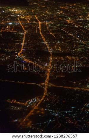 Night metropolis bird's-eye view #1238296567