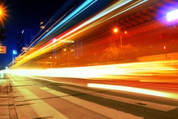 Night motion on urban streets