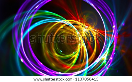 Night music party background. Electro style abstract pattern. Light fractal artwork for creative graphic design
