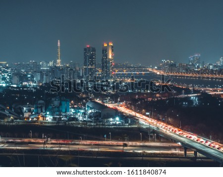 Night night view of seoul south korea