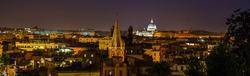 Night panorama of Rome, Italy
