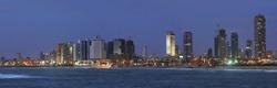 night panorama of Tel Aviv