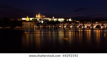 Night Prague panorama
