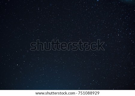 Night scape with beautiful stary sky at the high mountain. Star texture. Space background.  #751088929