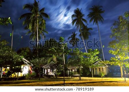 night scene in beach lodge