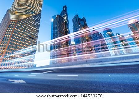 night scene of modern city #144539270