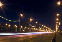 Night scene: road
