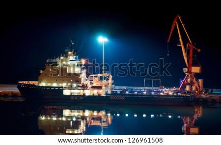 Night shift at the port.