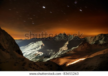 Night Shot in the Mountains