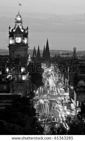 Night shot of Edinburgh