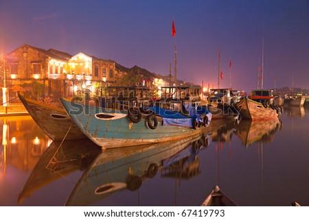 Night shot of Hoi An. Vietnam. Unesco World Heritage Site.