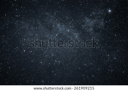 Night Sky and Milky Way - Shutterstock ID 261909215