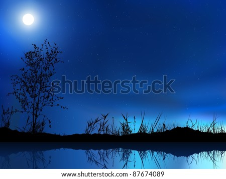 Night Sky - colored background illustration