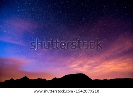 Photo of  Night Sky Picture , Beautiful digital image