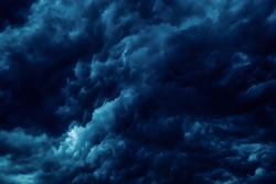 night sky, stormy, storm, thunder, gloomy thick clouds. mystical and dramatic photo