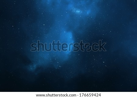 Night sky - Universe filled with stars, nebula and galaxy