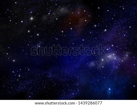 Night sky - Universe filled with stars, nebula and galaxy. Abstract background