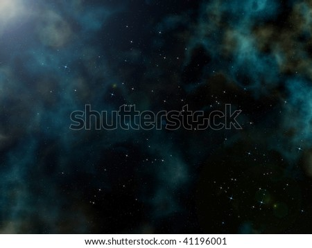 Night sky with a lot of stars. - stock photo