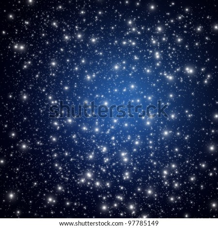 Night sky with star