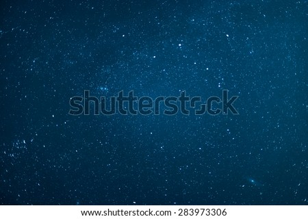 Night sky with stars. - Shutterstock ID 283973306
