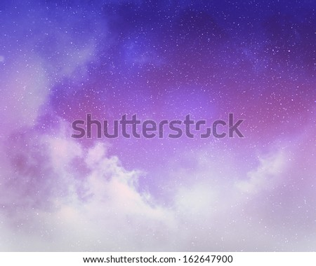 Night sky with stars and nebula #162647900