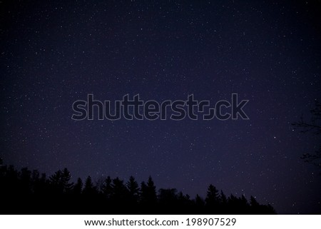 Night sky with stars at Acadia National Park, Maine - Shutterstock ID 198907529