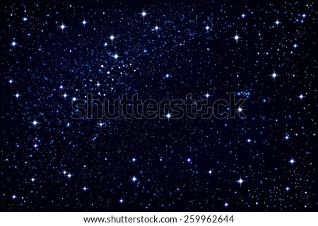 night sky with white stars ,use as background