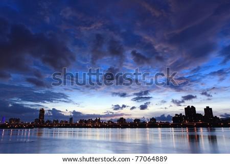 Night, Skyline at Taiwan Taipei