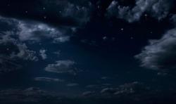 Night starry sky. Night cloudy sky
