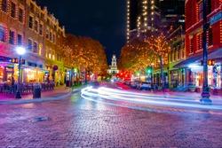 Night  Street in Fort Worth ,Dallas ,Texas