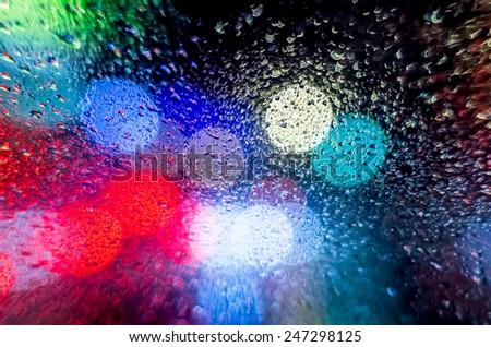 Night street. Rain.