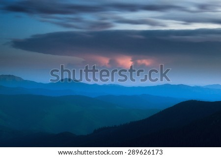 night thunderstorm far far off horizon clouds weather element