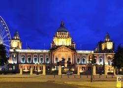 night time photo of City Hall,Belfast,Co.Antrim, Northern Ireland