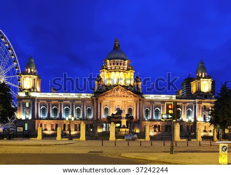 night time photo of City Hall,Belfast,Co.Antrim, Northern Ireland